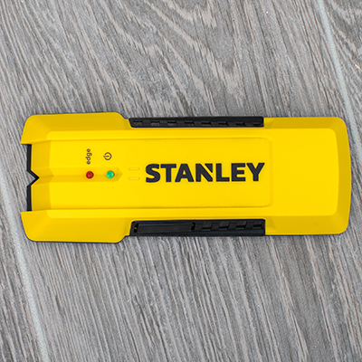 STANLEY<sup>&reg;</sup> Stud Sensor -  Detect the location of wood or metal studs up to 3/4-inch beneath surface material with this easy-to-use stud sensor. Featuring a sturdy design, this sensor will indicate with sequential LEDs, marking both the edges and center of studs with accuracy up to 1/8&quot; for wood and 1/4&quot; for metal.